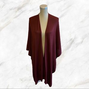 4/$30 🌺 F21 | Maroon Throw-Over Blanket Poncho